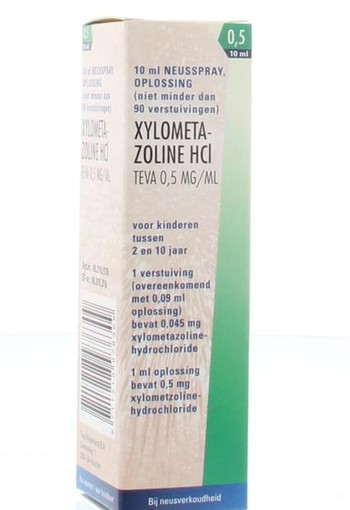 Teva Xylometazoline 0.5 mg spray (10 ml)