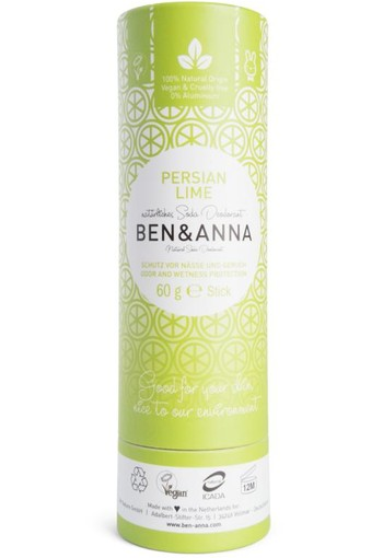 Ben & Anna Deodorant Persian lime push up (60 gram)