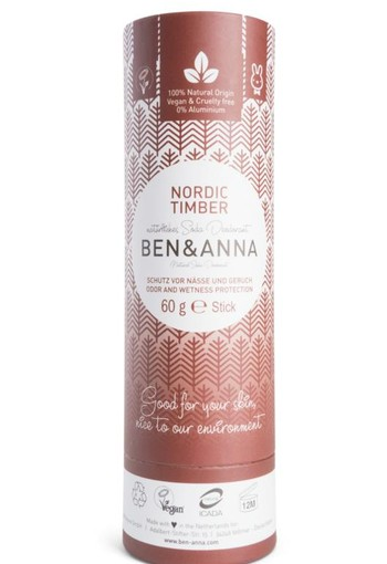 Ben & Anna Deodorant Nordic timber push up (60 gram)