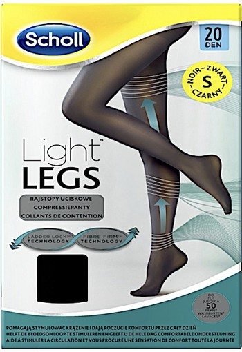 Scholl Light Legs 20 Denier Zwart - Maat S