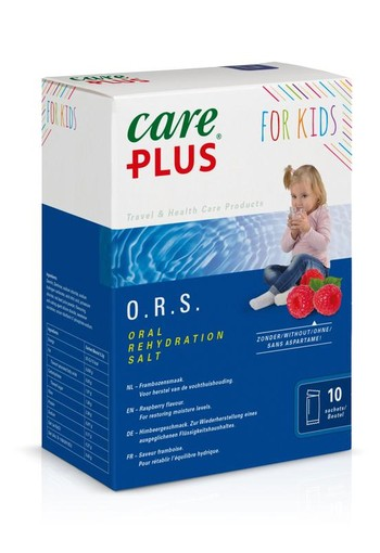 Care Plus ORS kind framboos (10 stuks)