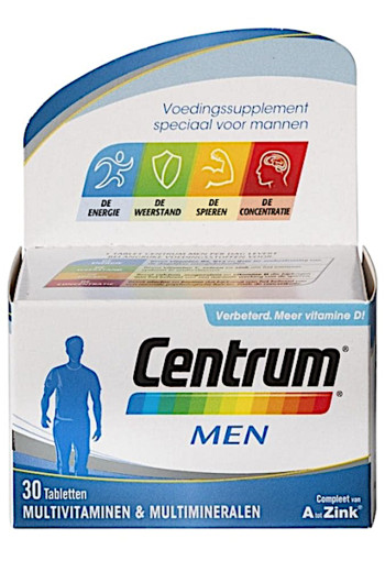 Centrum Multivitaminen Men Tabletten 30st