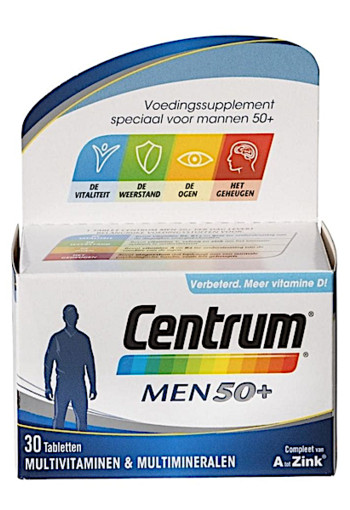 Centrum Men 50+ Multivitaminen Tabletten 30st