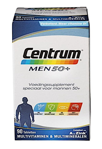 Centrum Men 50+ Multivitaminen Tabletten 90st