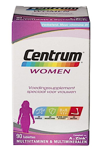 Centrum Multivitaminen Women Tabletten 90st