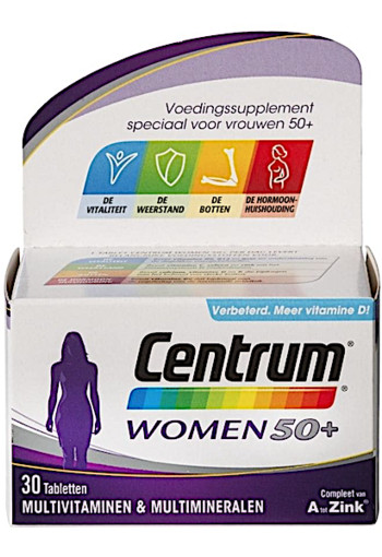 Centrum Women 50+ Multivitaminen Tabletten 30st