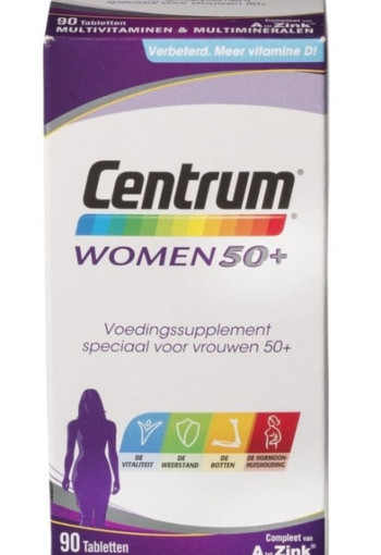 Centrum Women 50+ Multivitaminen Tabletten 90st