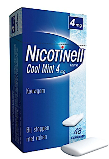 Nicotinell Kauwgom Cool Mint 4 Mg 48st