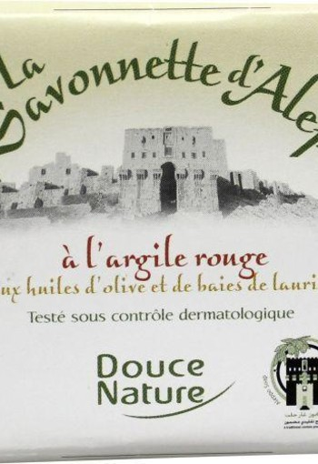 Douce Nature Toiletzeep aleppo rode klei (100 gram)