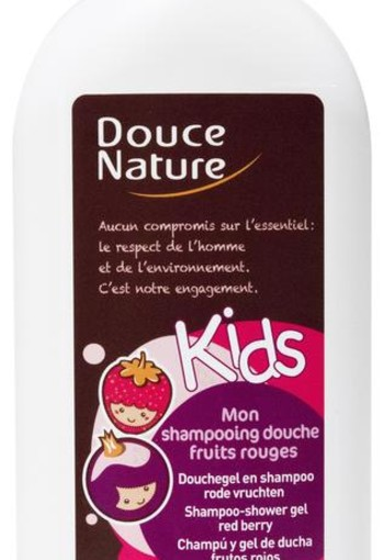 Douce Nature Douchegel & shampoo kids rode vruchten (300 ml)