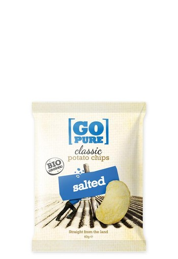 Go Pure Chips naturel gezouten bio (40 gram)