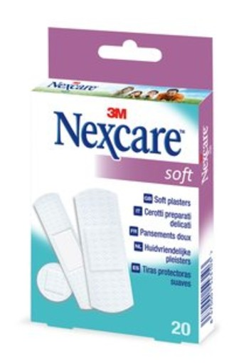 Nexcare Soft assorti pleisters (20 stuks)
