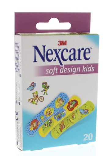 Nexcare Soft assorti pleisters kids (20 stuks)