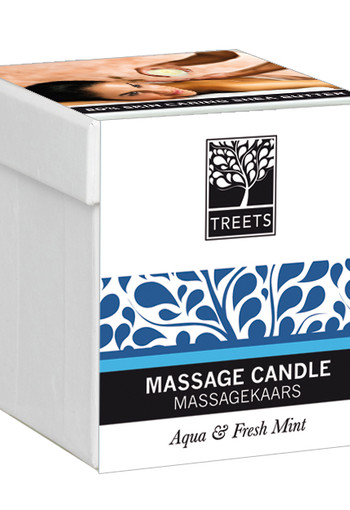 Treets Massage candle aqua & fresh mint (140 gram)