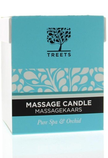 Treets Massage candle pure spa & orchid (140 gram)