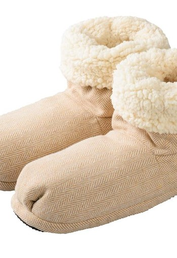 Warmies Slippies comfort maat 37 - 41 beige (1 paar)