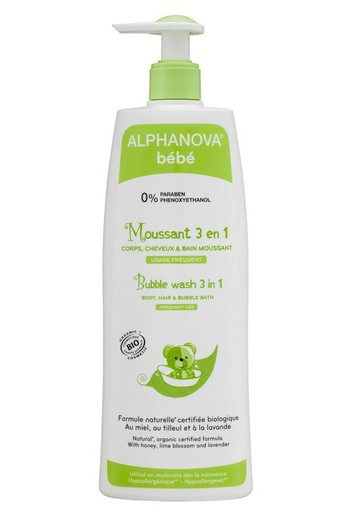Alphanova Baby Bio bubble wash 3 in 1 (500 ml)
