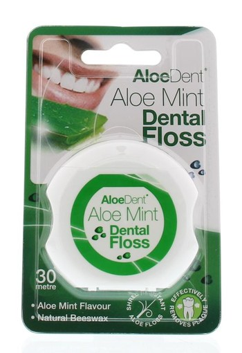 Optima Aloe dent aloe vera dental floss 30 meter (1 stuks)