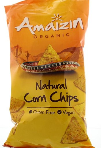 Amaizin Corn chips natural bio (250 gram)