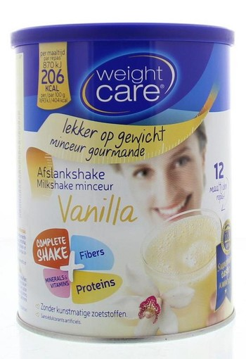 Weight Care Afslankshake vanille 436 gram