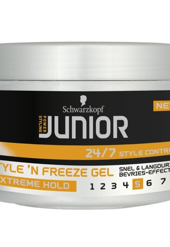 Junior Power Junior style 'N freeze gel level 5 (200 ml)