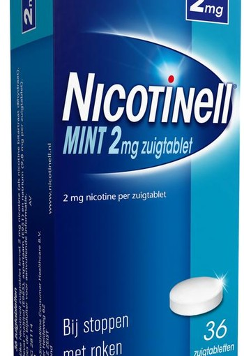 Nicotinell Mint 2 mg (36 zuigtabletten)