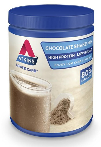 Atkins Shake mix chocolade (370 gram)
