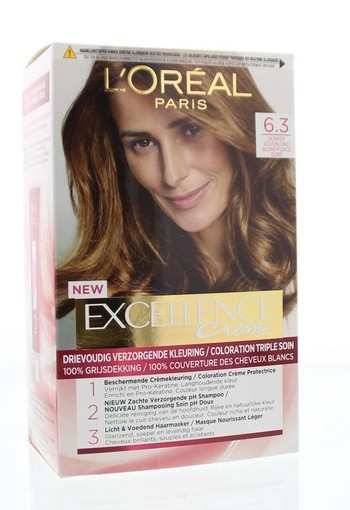 Loreal Excellence 6.3 Donker goudblond (1 set)