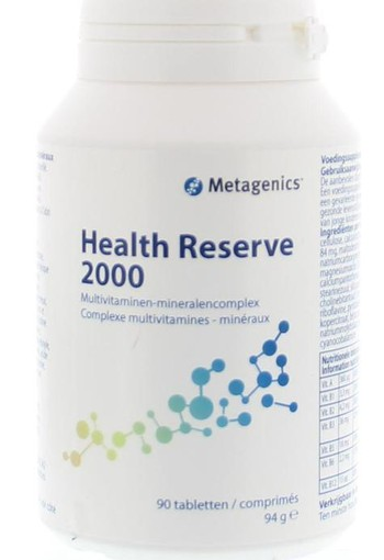 Metagenics Health reserve 2000 (90 tabletten)