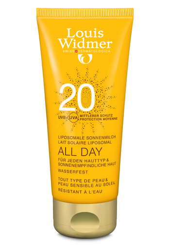 Louis Widmer Zonnebrand Ongeparfumeerd All Day Liposomaal F20 100 ml