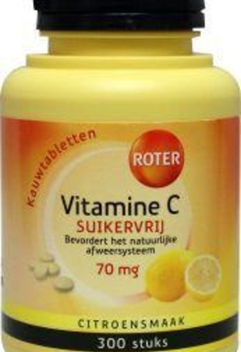 Roter Vitamine C 70 mg suikervrij (300 tabletten)