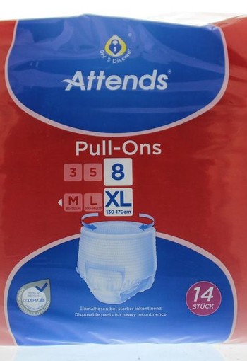 Attends Pull-ons 8 X-Large (14 stuks)