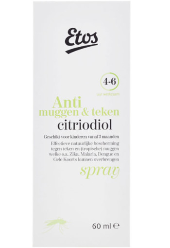 Etos Spray te­gen mug­gen en te­ken 60 ml
