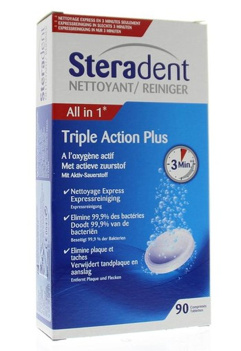 Steradent Triple action plus (90 stuks)