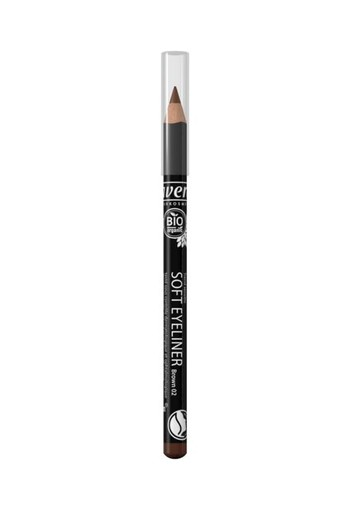 Lavera Oogpotlood/eyeliner soft brown 02 (1 stuks)