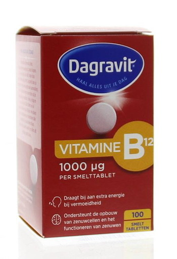 Dagravit Vitamine B12 1000 mcg smelt (100 tabletten)