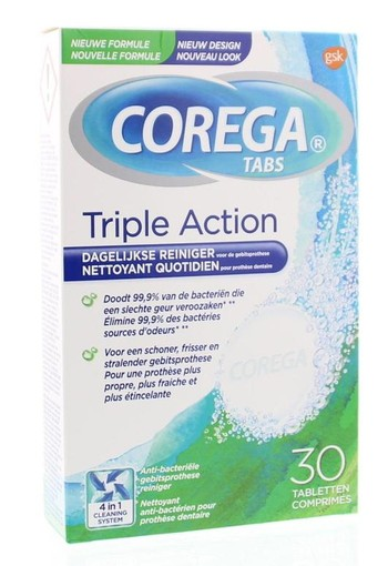 Corega Tabletten triple action (30 tabletten)