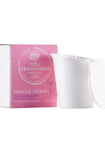 Treets Relaxing chakra?s massage candle (140 gram)
