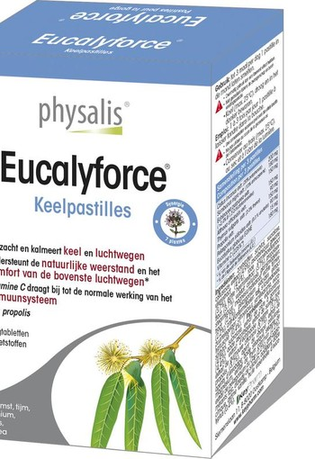 Physalis Eucalyforce keelpastille (30 tabletten)