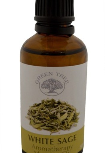 Green Tree Massage olie witte salie (50 ml)