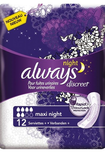 Always Discreet night (12 stuks)
