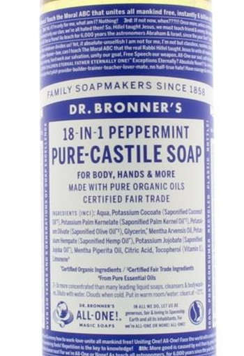 Dr Bronners Liquid soap peppermint (475 ml)