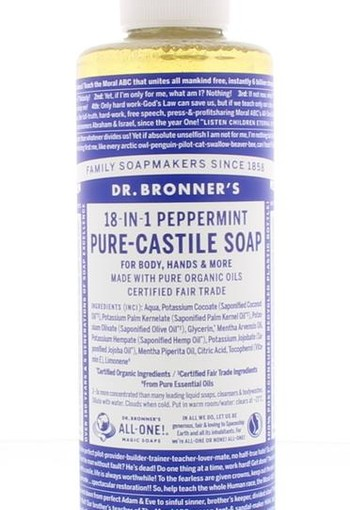 Dr Bronners Liquid soap peppermint (240 ml)