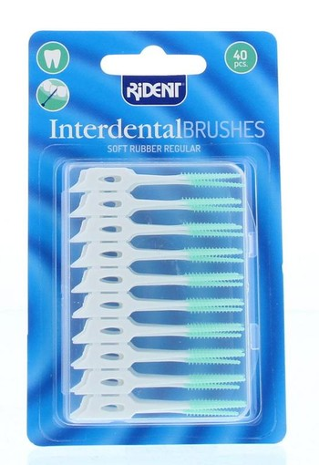 Rident Interdental brushes soft rubber (40 stuks)