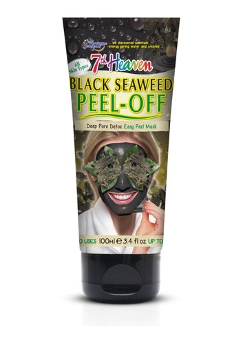 Montagne 7th Heaven gezichtsmasker black seaweed peel off (100 gram)