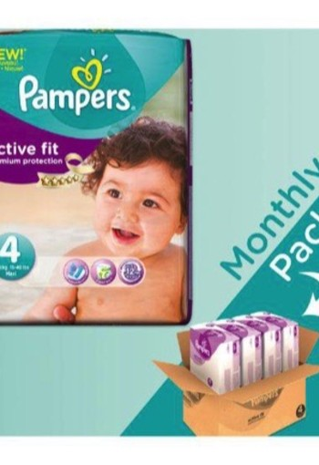 Pampers Active Fit Maxi 4 Maandbox 168st