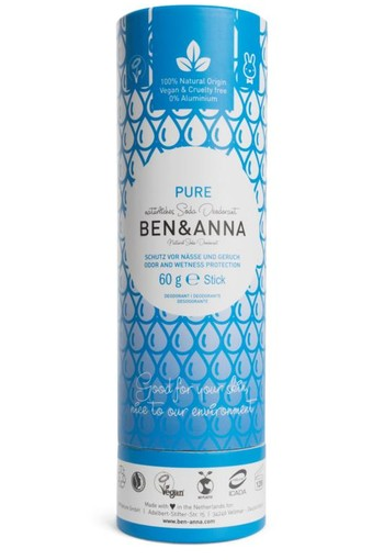 Ben & Anna Deodorant pure push up (60 gram)