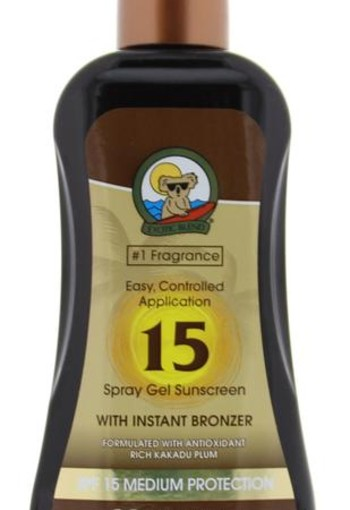 Australian Gold Spray gel met bronzer SPF15 (237 ml)