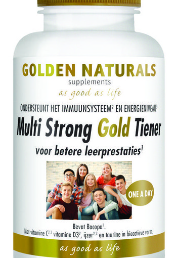 Golden Naturals Multi strong gold tiener (60 vcaps)