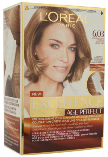 L'Oréal Paris Excellence Age Perfect 6.03 -Donker Goudblond - Haarverf